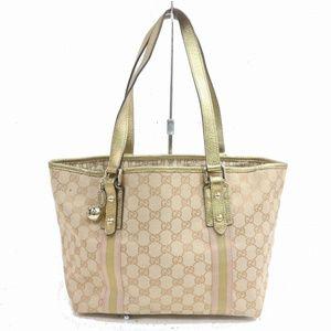 Authentic Gucci Tote Bag Beiges GGCanvas